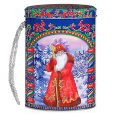 """Новогодняя упаковка  500 г """"Овал малый """"Дед Мороз и Снегурочка"""""""