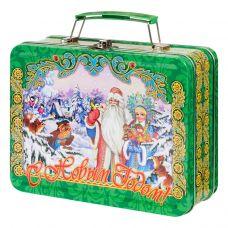 """Новогодняя упаковка  950 г """"Чемоданчик малый """"Дед Мороз и Снегурочка"""""""