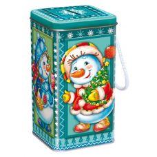 """Новогодний подарок  500 г """"Копилка """"Снеговики"""""""