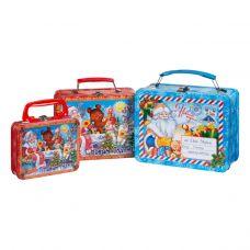 Новогодняя упаковка: Набор из трех жестяных чемоданчиков - скидка 10 % за набор!
