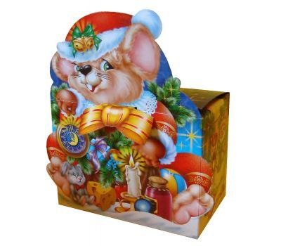 """Новогодняя упаковка из картона """"Мышка"""""""