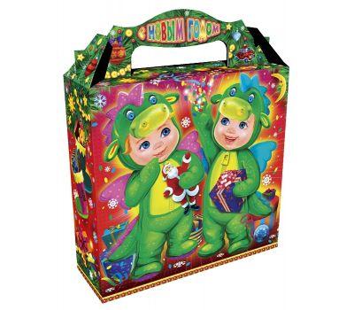 """Новогодняя упаковка из картона """"Дети-дракончики"""""""