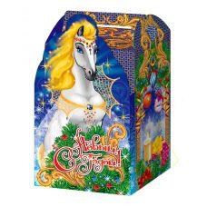 """Акция - Новогодняя упаковка из микрогофрокартона """"Волшебная лошадь"""""""