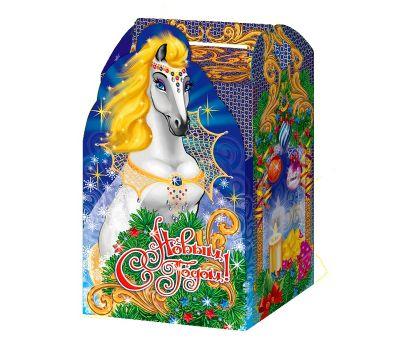 """Новогодняя упаковка из микрогофрокартона """"Волшебная лошадь"""""""