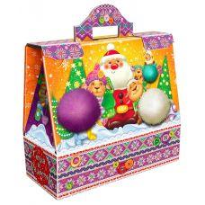 """Новогодняя упаковка из микрогофрокартона """"Цветные овечки"""""""