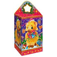 """Новогодняя упаковка из картона """"Четыре барашка"""""""