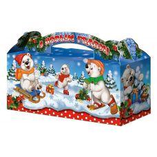 """Новогодняя упаковка  900 г """"Чемоданчик """"Белые медведи"""""""