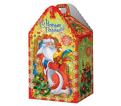 """Акция - Новогодняя упаковка из микрогофрокартона """"Дед Мороз и петушок"""""""