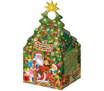 "Новогодний подарок  850 г ""Елочка ""Дед Мороз и дети"""