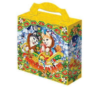 """Новогодняя упаковка из картона """"Лайки с подарками"""""""