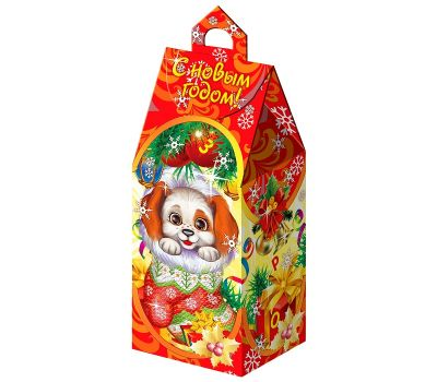 """Новогодняя упаковка из картона """"Год собаки"""""""