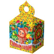 "Новогодний подарок  500 г ""Купол малый ""Поросята у елочки"""