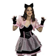"""Маскарадные костюмы для взрослых """"Кошечка черно-розовая"""""""