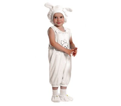 """Детский маскарадный костюм """"Кролик"""" (белый)"""