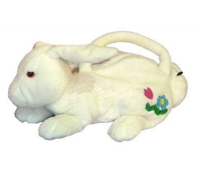 Зайчик-сумочка белый