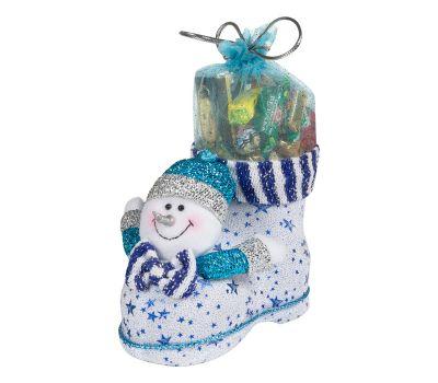 """Новогодний подарок  700 г """"Сапожок со снеговиком большой"""""""