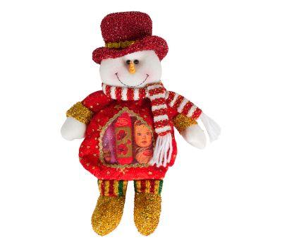 """Новогодний подарок  300 г """"Снеговик красный с сердечком"""""""