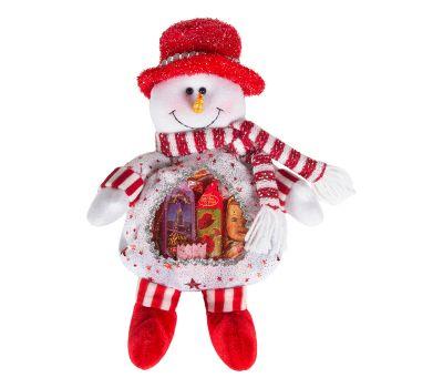 """Новогодний подарок  200 г """"Снеговик белый с сердечком"""""""