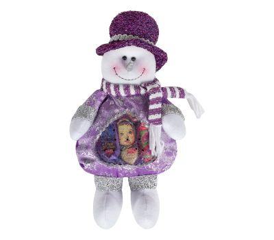 """Новогодний подарок  300 г """"Снеговик сиреневый с сердечком"""""""