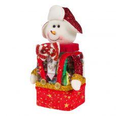"""Новогодняя упаковка  500 г """"Снеговик в шапке"""""""