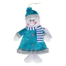 """Новогодняя упаковка   75 г """"Снеговик - подвеска синий"""""""