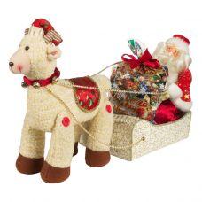 """Новогодний подарок  700 г """"Сани с Дедом Морозом"""""""