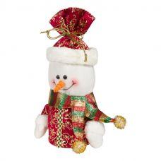 """Новогодняя упаковка  500 г """"Снеговик - мешок красный"""""""