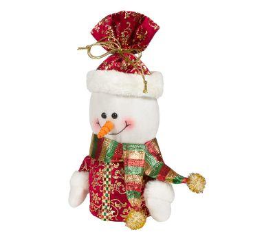 """Новогодний подарок  400 г """"Снеговик - мешок красный"""""""
