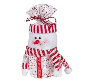 """Новогодний подарок  400 г """"Снеговик - мешок красно-белый"""""""