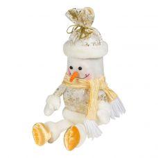 """Новогодняя упаковка  500 г """"Снеговик - мешок золотистый"""""""