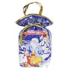 """Новогодний подарок 1000 г """"Мешочек с ручками """"Дед Мороз"""" синий"""""""