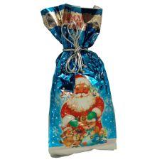 """Новогодний подарок 1000 г """"Пакет Новогодний металлизированный синий"""""""