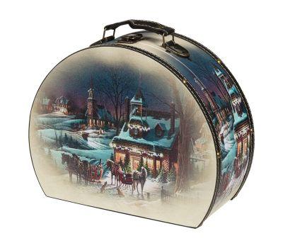 "Новогодний подарок 1500 г ""Сундучок ""Зимний вечер"" средний"""