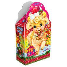 """Новогодняя упаковка из картона """"Овечка"""""""